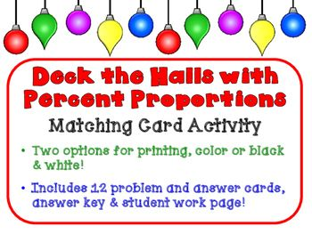 Deck the Halls with Percent Proportions - Use with \