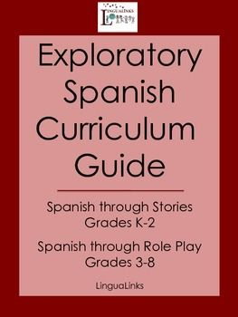 Exploratory Spanish Curriculum Guide - Grades K-8 | Spanish