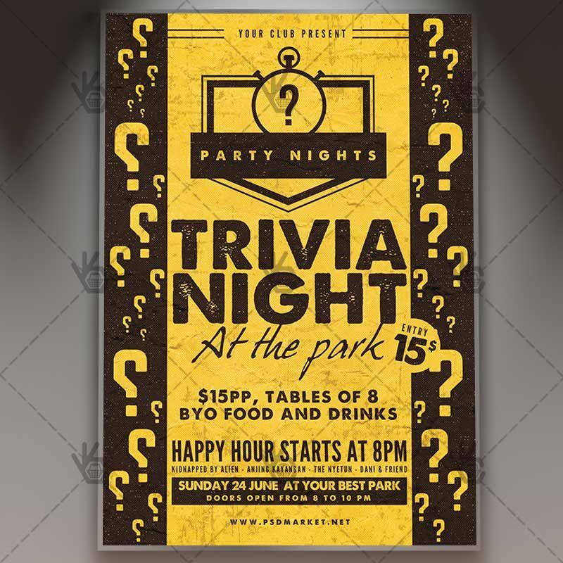Trivia night premium flyer psd template trivia psd templates trivia night premium flyer psd template bar championship prize pub toneelgroepblik Image collections