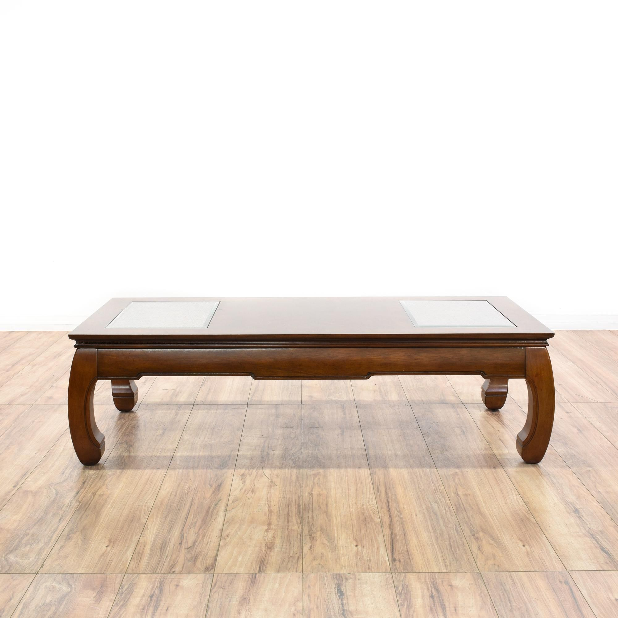 Furniture Legs San Diego asian chow leg coffee table | glass panels, solid wood and