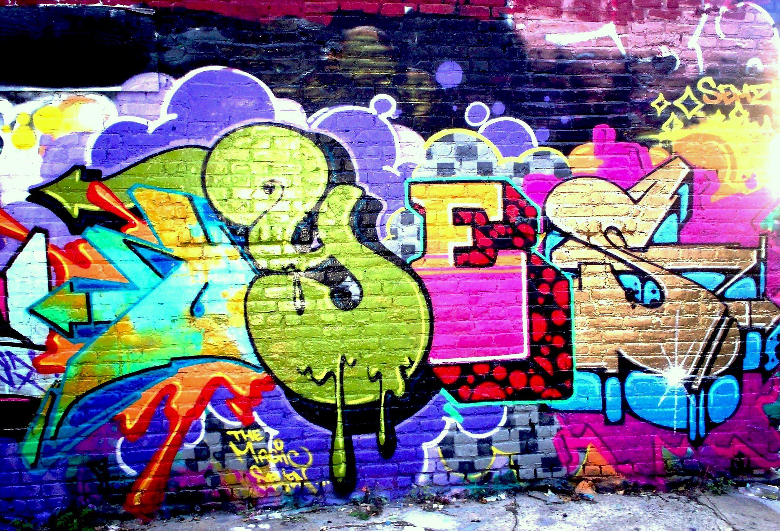 Graffiti wall pictures - Artistic Graffiti Wallpaper Background 2520 X 1714 Id 56492 Wallpaper Abyss