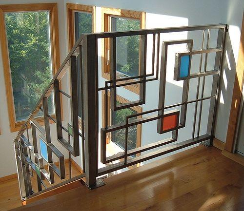 Best Mondrian Design Art In 2019 Railing Design Stair 400 x 300
