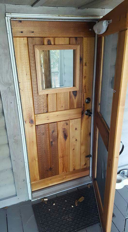Custom Built Cedar Door What I Do In 2019 Diy Exterior