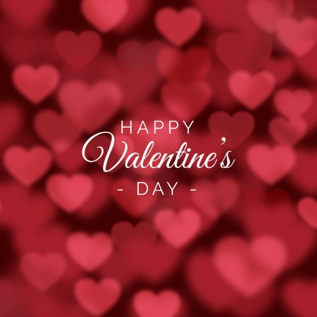 valentines day background with blurred hearts free vector valentines day vector