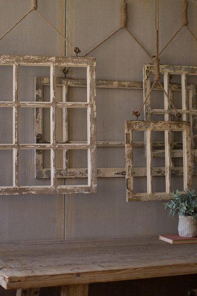 Set Of 4 Window Frame Wall Art 489 00 Window Frame Decor Frames On Wall Window Wall Decor
