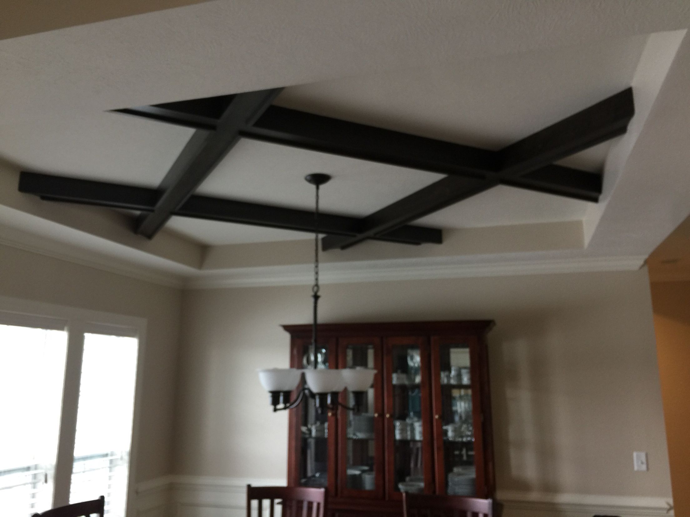 Maple coffered ceiling