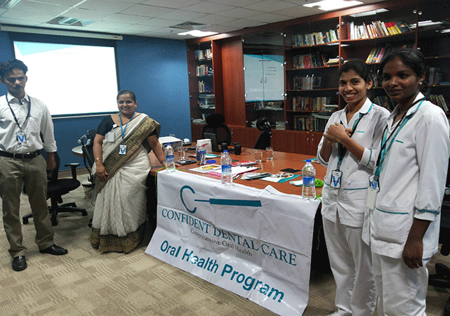 confident dental care conduct the free camps in many schools