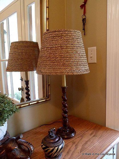 Diy ballard seagrass shade lamp ideas craft and wooden lamp aloadofball Gallery