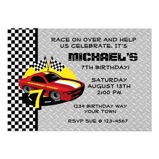 16 best race car birthday invitations