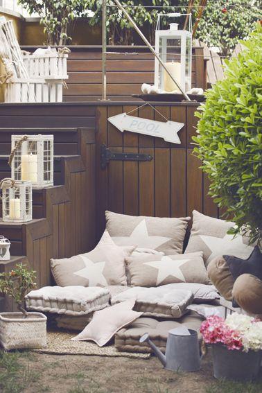 Cojines colchoneta para difrutar del verano en tu jardín