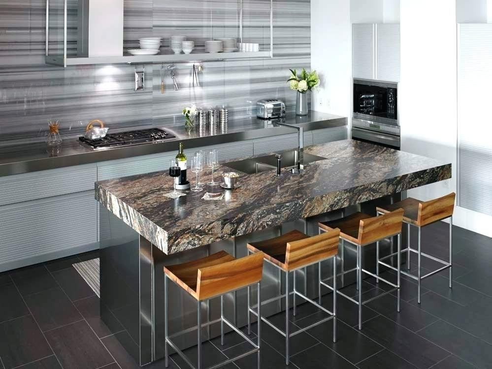 Custom Laminate Home Depot Stainless Steel Kitchen Island With Black And Formica Countertops Magma Stunning