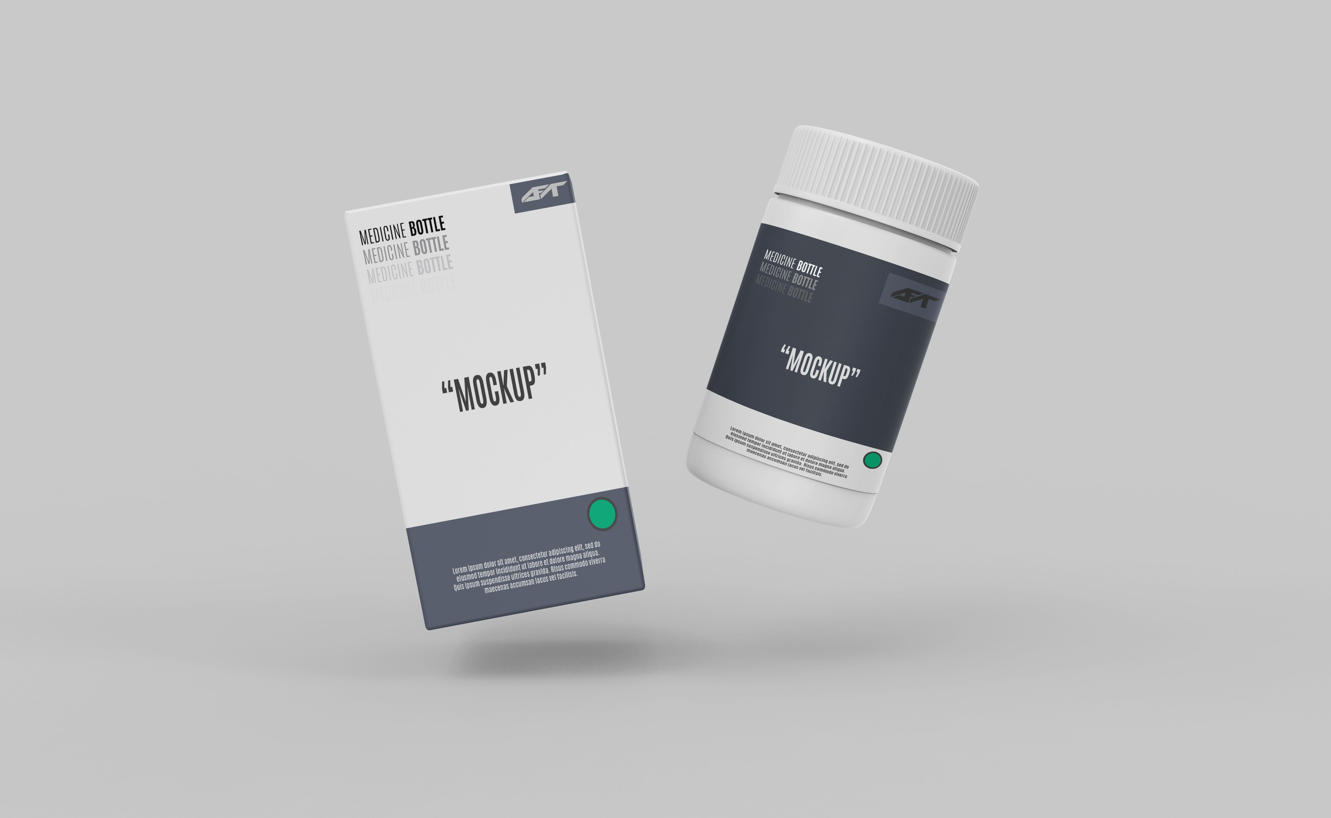 Download Plastic Bottle With Box Mockup Box Mockup Medicine Bottles Bottle