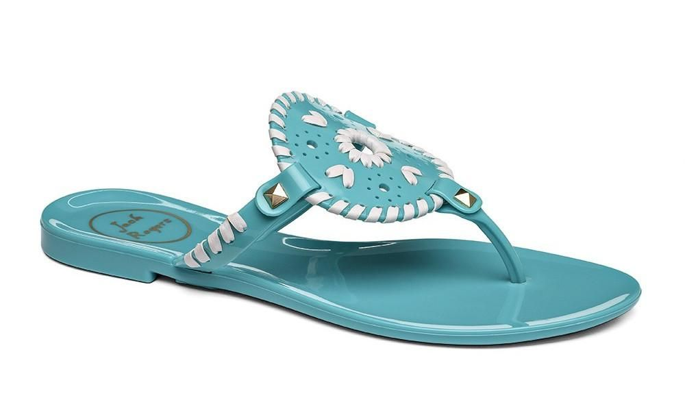 f2a4b9437fc8 Jack Rogers Georgica Jelly Turquoise White
