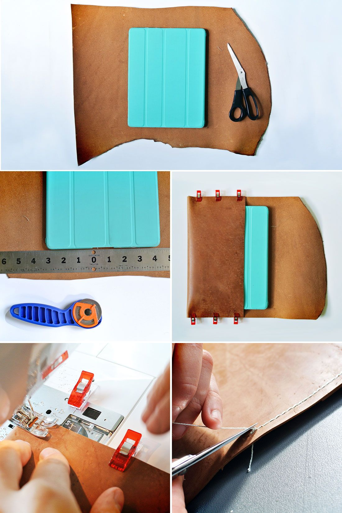Diy a leather tablet case for way less than youd think
