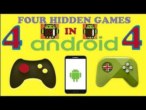 4 SECRET HIDDEN GAMES ON ANDROID PHONE YOU DON'T KNOW THAT
