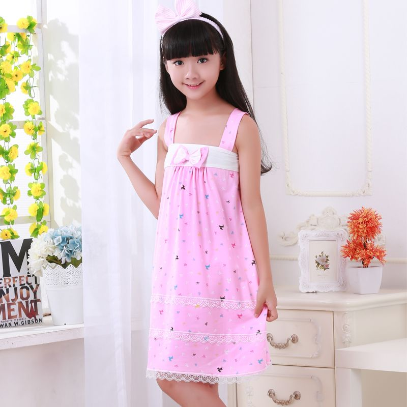 Camisole princess nightdress Summer Girl Kids Pajamas Soft ...