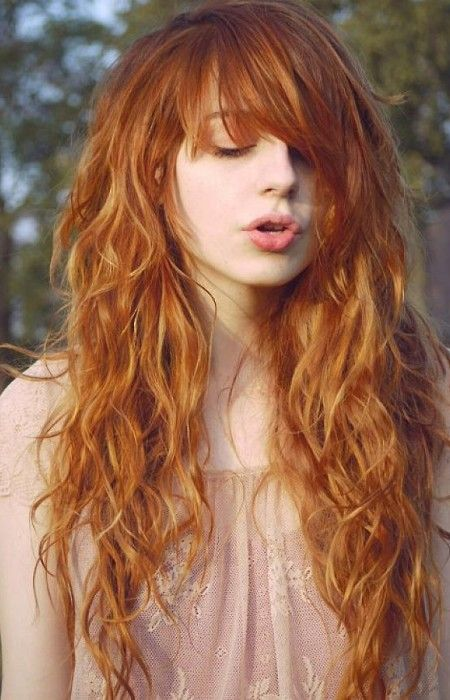 Long Curly Hairstyles With Trendy Bangs 2016 Haircuts And Hair Colors For Short Medium