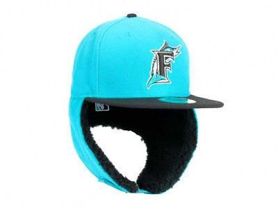 Florida Marlins Dogear Down Ear Flap Mlb Fitted Hat Cap Size 7 1 8 Teal Miami Fl Fitted Hats Hats Riding Helmets