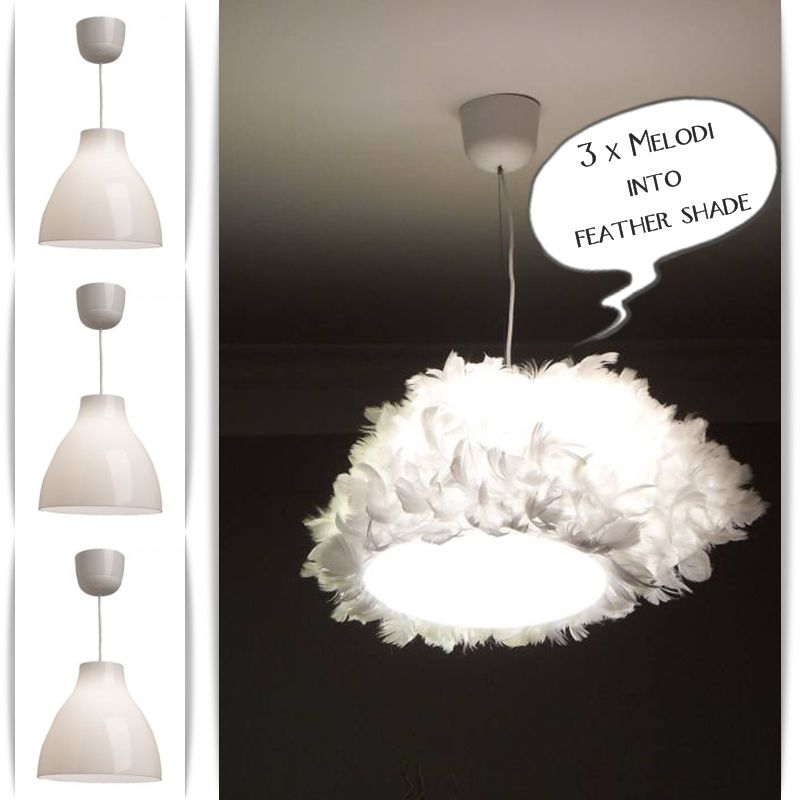 Triple MELODI feather shade  IKEA Hackers  Apartment ideas