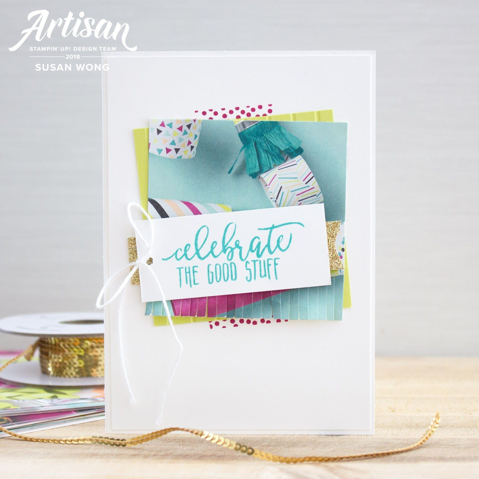 Easy handmade birthday card with picture perfect birthday by stampin