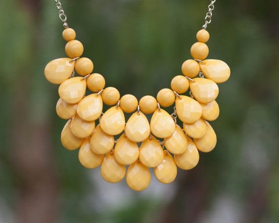 Teardrop Necklace in Yellow