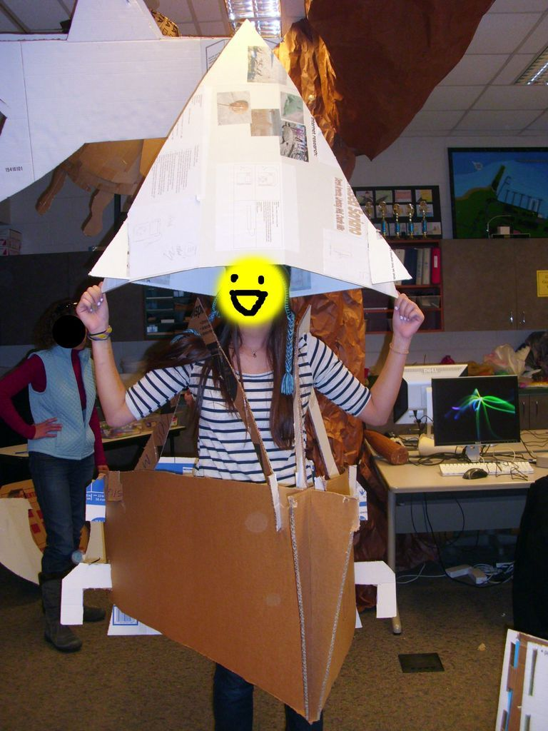 Fun and Easy-to-Make Cardboard Sail Boat Costume! | Costumes, Baby ...