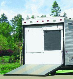 Rear Door Trailer Screen Cargo Trailer Camper Conversion Cargo Trailer Camper Cargo Trailer Conversion
