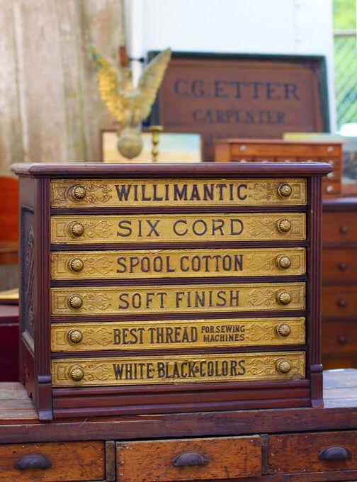 Antique Thread Cabinet..... be still my beating heart. - Antique Thread Cabinet..... Be Still My Beating Heart. VINTAGE