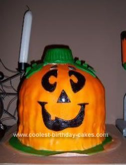 Coolest Homemade Pumpkin Halloween Cake Halloween cakes Homemade
