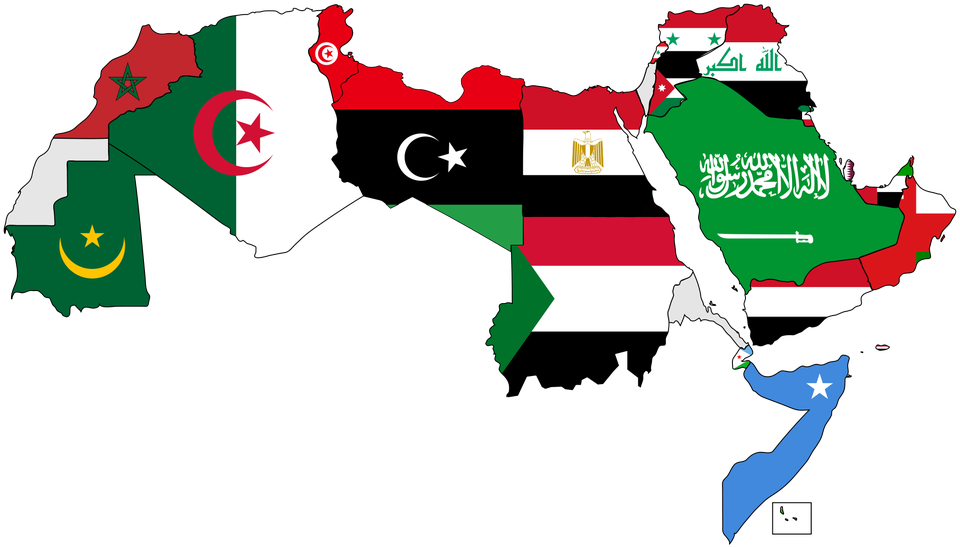 Flag Map of the Arab World [2000 × 1139] MapPorn in 2020