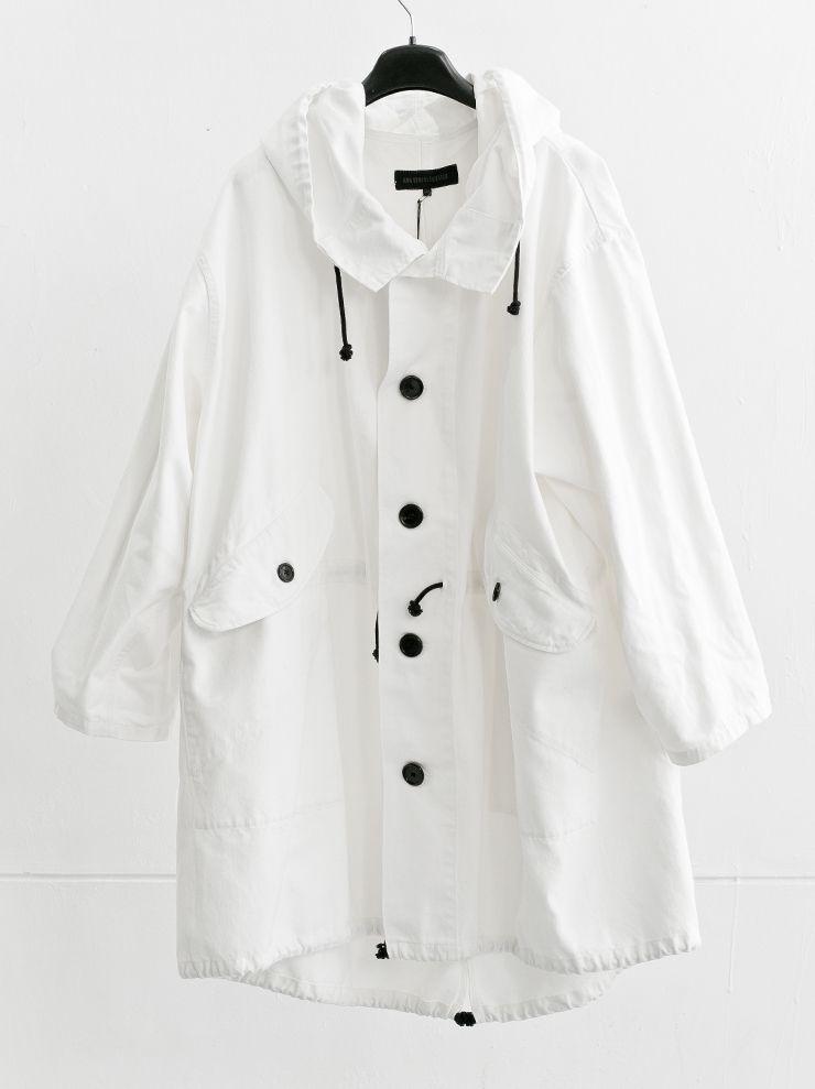 MEN CATEGORY :: CLOTH :: TOPS :: COAT :: ANN DEMEULEMEESTER デニムモッズコート WHITE