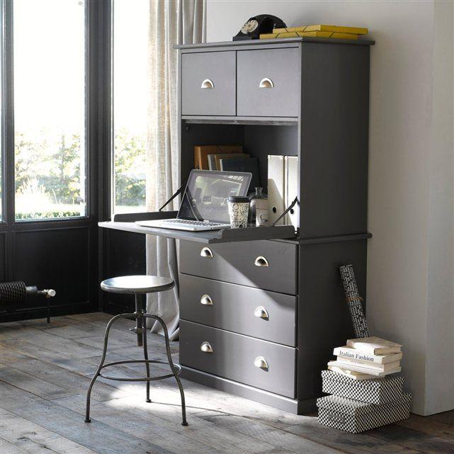 Secr taire biblioth que ou meuble de rangement ce meuble multifonctions vous propose espace - Meuble multifonction ...