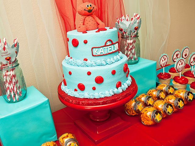 Elmo party. Too cute