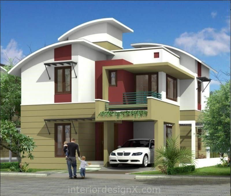 Front elevation modern house home interior design plans for Simple home elevation design