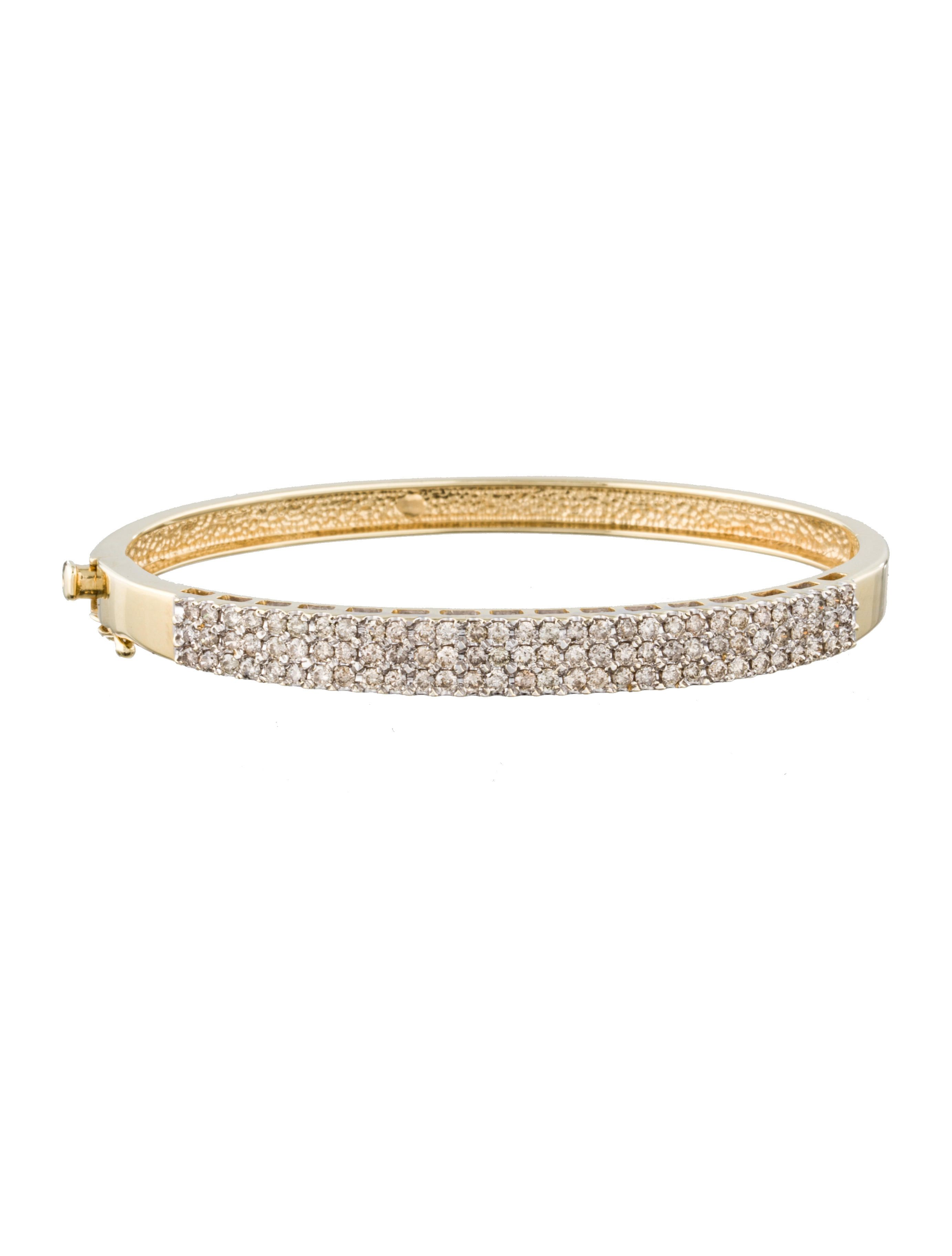 diamond accents bangle bangles gold box closure bracelet pin and yellow with clasp