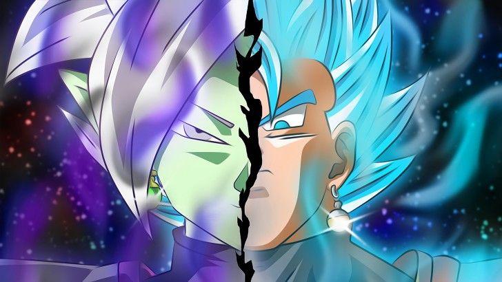 Vegito Super Saiyan Blue Vs Fusion Zamasu Wallpaper Dragon Ball Super Saiyan Blue Anime Wallpaper