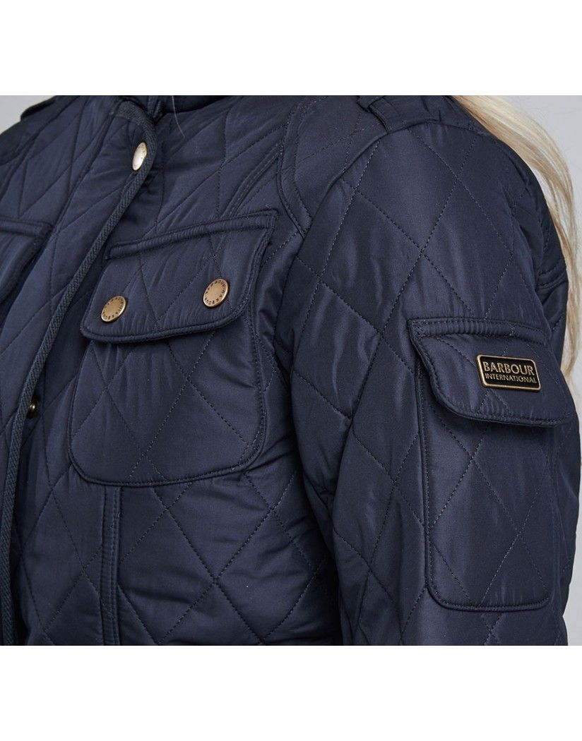 66e4c7f019 Barbour International Women s Tourer Polarquilt Jacket - Navy LQU0481NY71 -  Women s Jackets and Coats - Women .