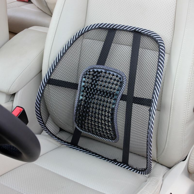 car fice Chair seat covers Mesh breathable massage Seat Back Support car seat cushion lumbar support