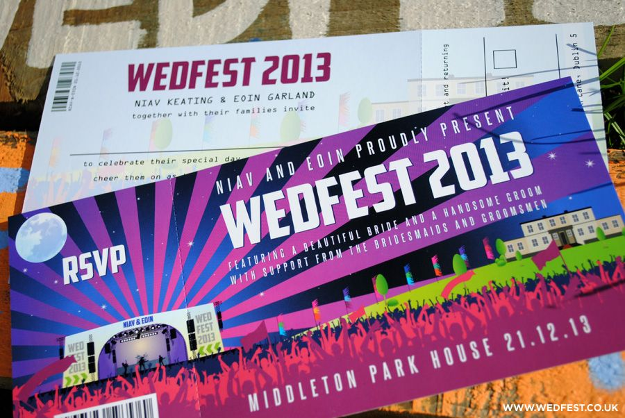 Wedfest Concert Ticket Wedding Invites  Invitations That Look Like Concert Tickets