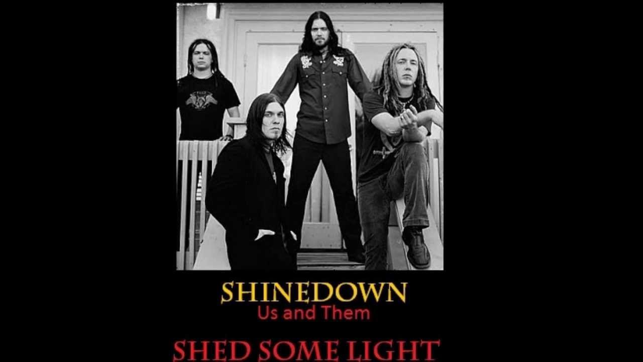 Shinedown ~ Shed Some Light ~ Lyrics on screen