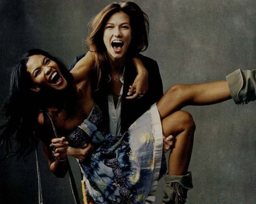 simply the best [karlie kloss + chanel iman]