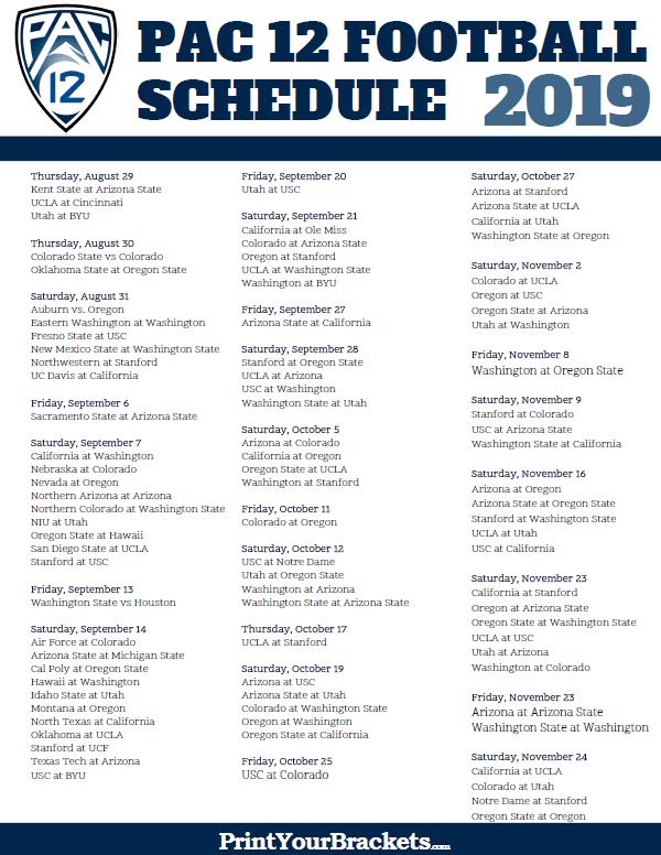 Pin On Ncaa 2019 2020 Football Schedules