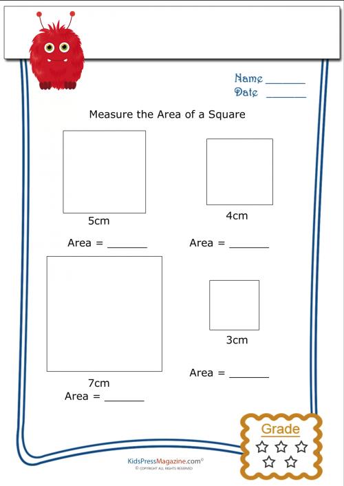 Measuring Area Worksheet Square 1 Kidspressmagazine Com Area Worksheets Perimeter Worksheets Worksheets