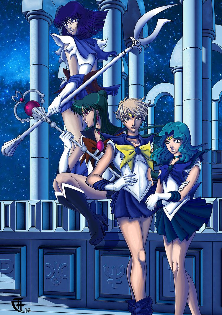 Outer Senshis by lithiumsaint.deviantart.com on @DeviantArt