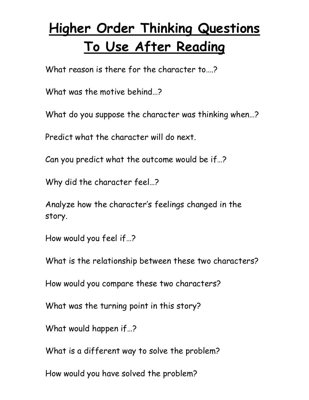 Critical Thinking Worksheets For 6th Grade