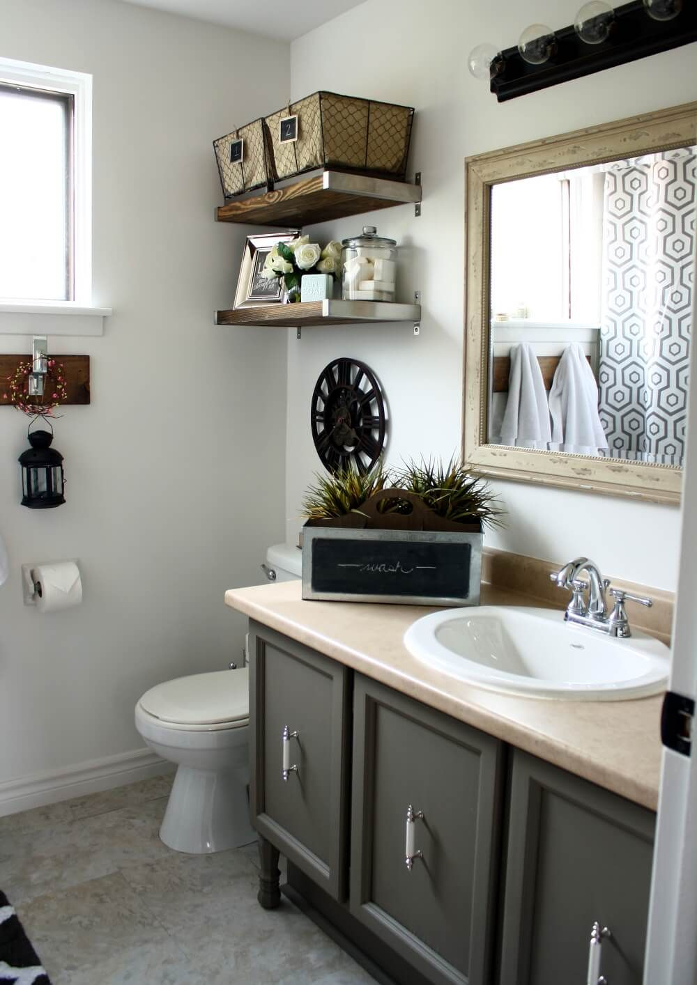 industrial chic updates to dated fixtures small bathroom on amazing small bathroom designs and ideas id=24562
