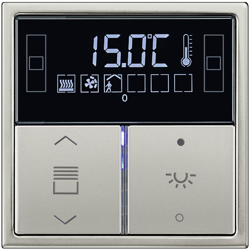 jung knx termostatl anahtar paslanmaz elik made in germany. Black Bedroom Furniture Sets. Home Design Ideas