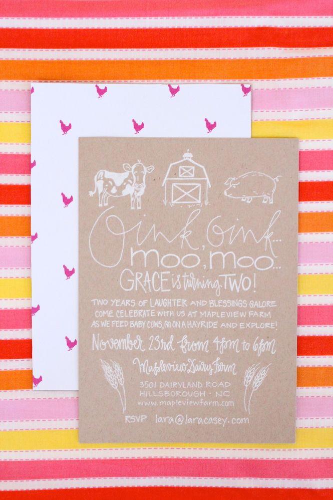 GRACE\'S BARNYARD BASH   Party invitations, Birthdays and Birthday ...
