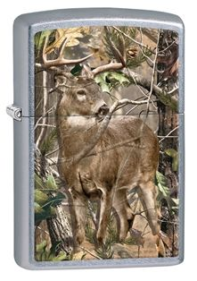 Zippo - Realtree® (Style #29310-000003-Z) I really enjoyed designing this lighter, blending this whitetail buck just the right way into that well-known camouflage background.