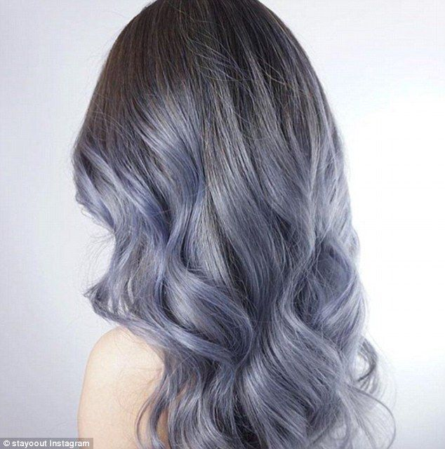 Dark Blue Grey Pretty Denim Hair Latest Hair Color